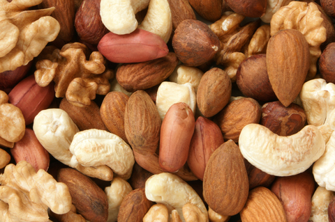 Nuts mixed, for backgrounds or textures